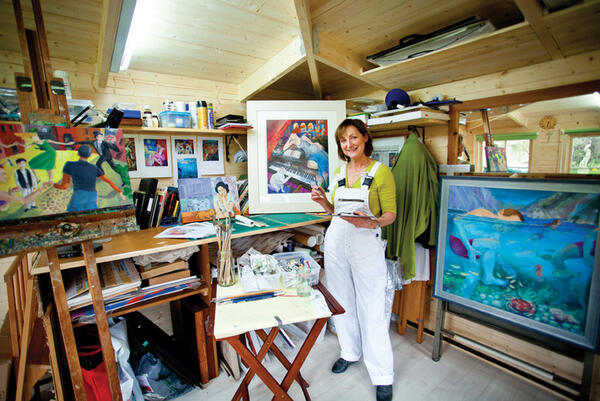 Angela in her Horsham Studio