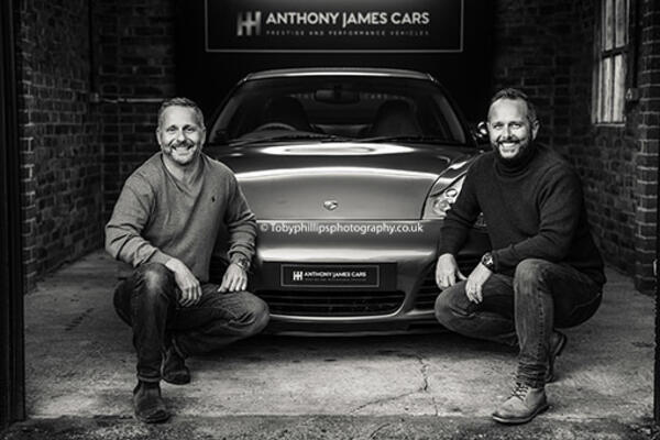 Daniel and Nick Hall at Anthony James Cars