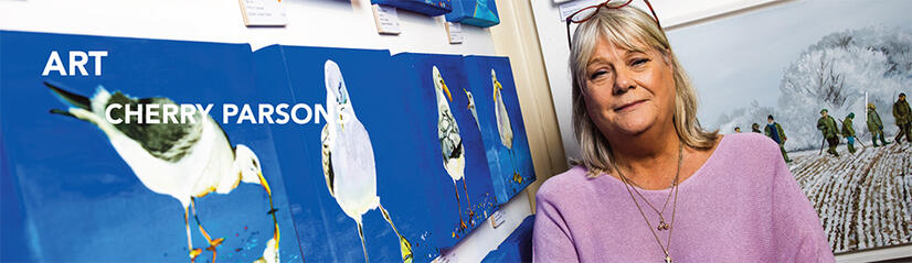 Feature on Horsham artist Cherry Parsons