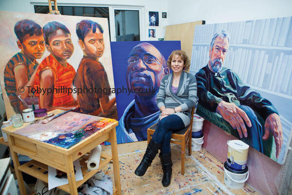 Claire Phillips in her studio