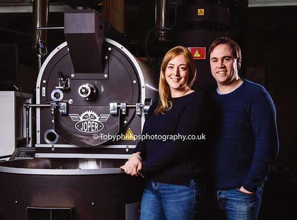 Bradley and Amelia at Horsham Coffee Roaster