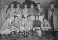 Gilbert (back left) with the 1955-56 Cowfold team