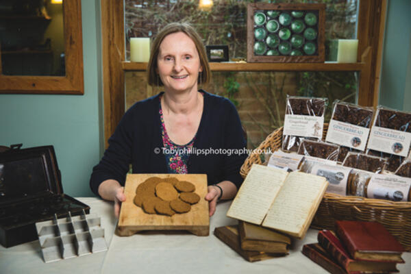 Lesley Ward with the Regency Gingerbread