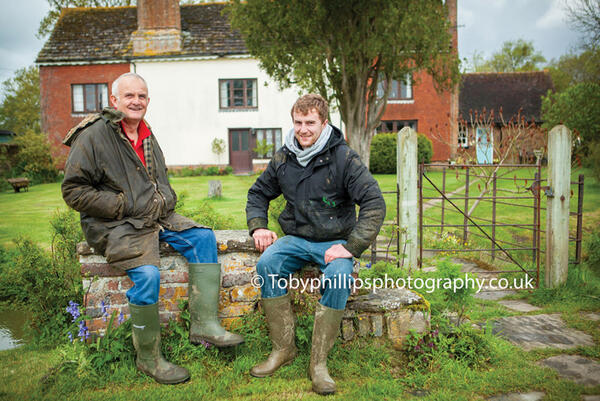 Barry and Owen at Great House Farm