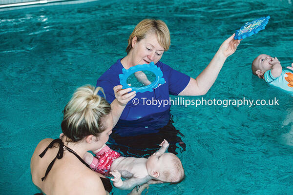 Sharon teaching at Horsham Swim School