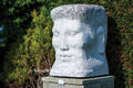 One of Janine's marble head sculptures