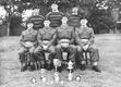 Jim (front left) was certainly the smallest member of the Army swimming team