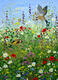 John Thompson: Gold finches and meadow flowers