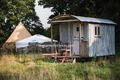 Shepherd's Hut at Knepp Campsite
