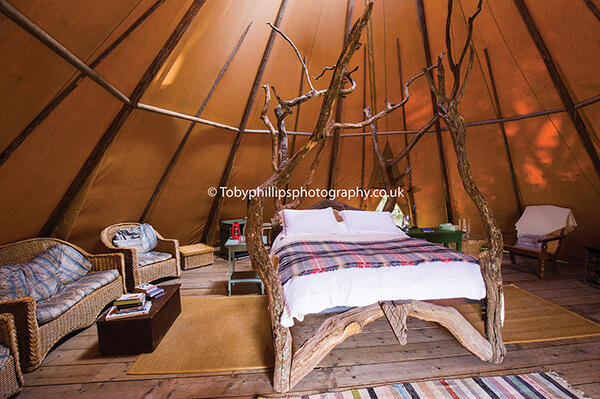 Little Owl Tipi at Knepp Campsite