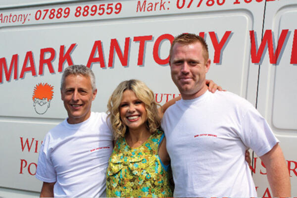 Antony and Mark with Melinda Messenger
