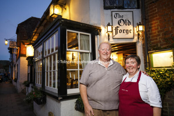 Clive and Cathy Roberts at Old Forge, Storrington