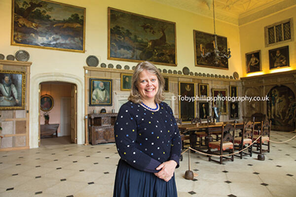Lady Emma Barnard at Parham House