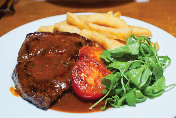 The Rump Steak at The Partridge