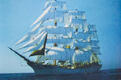 One of Peter's training ships was the Dar Pormorza, a famous Polish full-rigged sail ship
