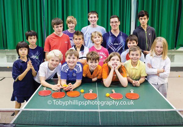 Horsham Table Tennis Club youngsters