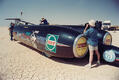 Filming the Thrust SSC land speed record attempt (pictured on a test run in the Jordanian desert in 1997)