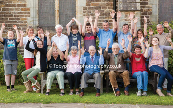 Bell ringers at St Margaret's in Warnham